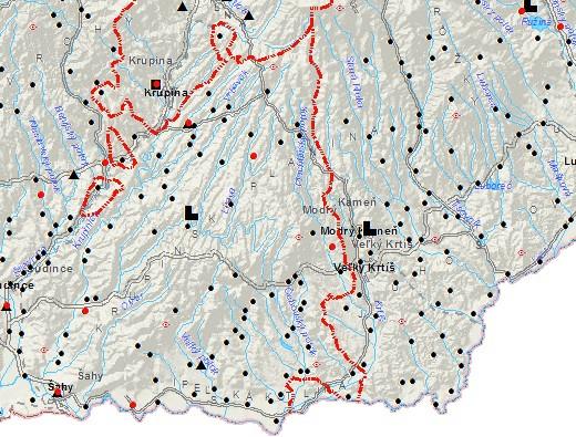 Osídlenie územia okresu pred tureckým vpádom (zdroj)